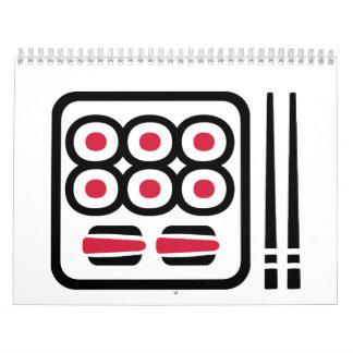 Sushi menu wall calendar