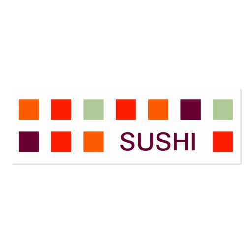 SUSHI (mod squares) Business Card Template