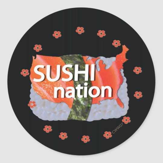 Sushi Nation Sticker w/ Logo