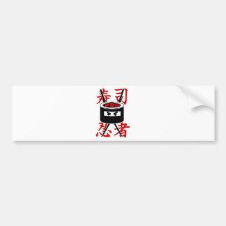Sushi Ninja Bumper Sticker