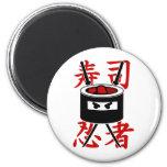 Sushi Ninja Imán Redondo 5 Cm