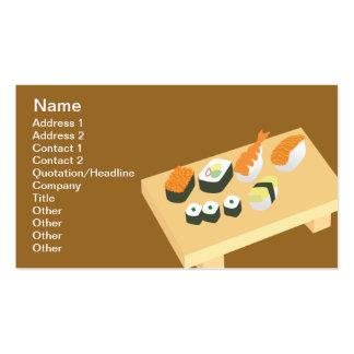 Sushi - obra clásica tarjetas de visita