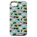 Sushi Oishii (azul) iPhone 5 Fundas