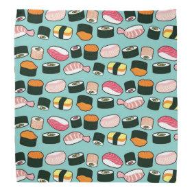 Sushi Oishii (Blue) Bandana