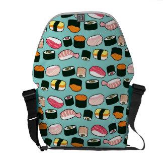 Sushi Oishii (Blue) Messenger Bag