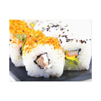 Sushi on a plate canvas print