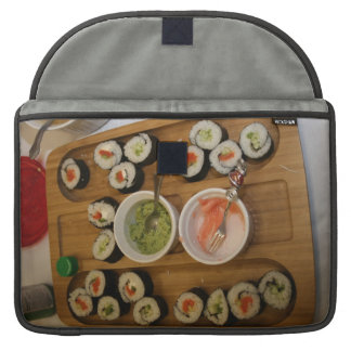 Sushi on a plate custom sleeves for MacBook pro