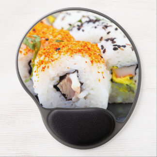 Sushi on a plate gel mouse pad