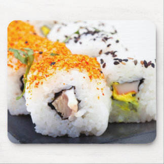 Sushi on a plate mouse pad