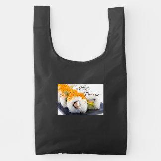 Sushi on a plate reusable bag