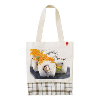 Sushi on a plate zazzle HEART tote bag