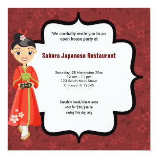 Sushi Open House Card