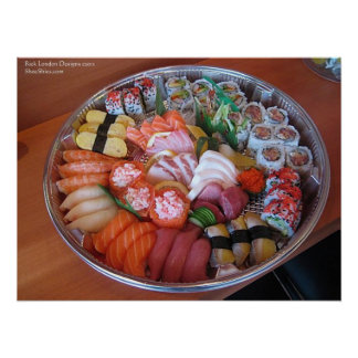 Sushi Party Plate Fine Art Poster Prints