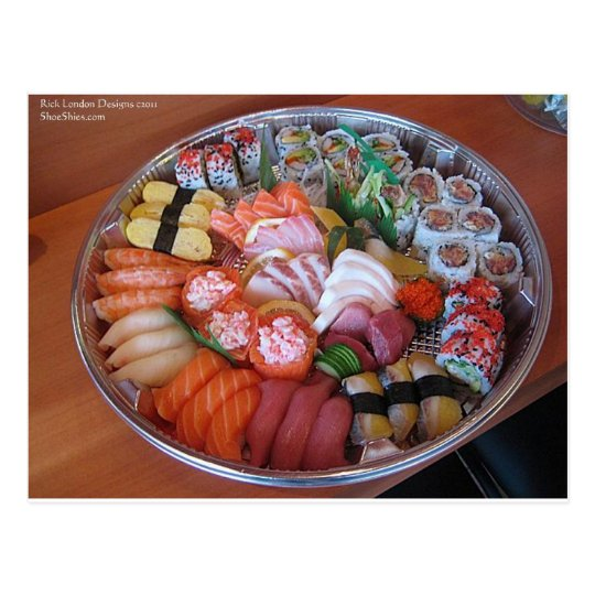 Sushi Party Plate Print Gifts Tees & Cards