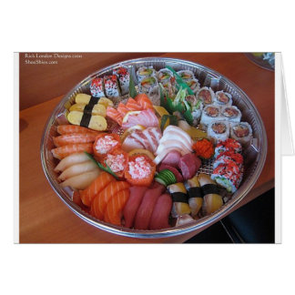 Sushi Party Plate Print Gifts Tees Cards Cards