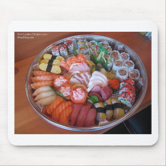 Sushi Party Plate Print Gifts Tees & Cards Mouse Pad