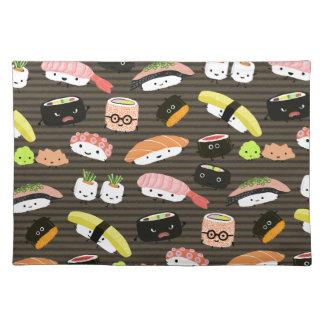 Sushi Party - Sushi Rolls, Sashimi, Wasabi, Ginger Cloth Placemat