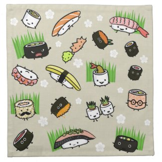 Sushi Party - Sushi Rolls, Sashimi, Wasabi, Ginger Napkin