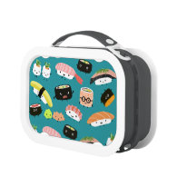 Sushi Pattern Lunch Boxes