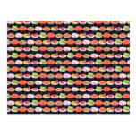 Sushi pattern postcard