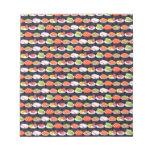 Sushi pattern scratch pads