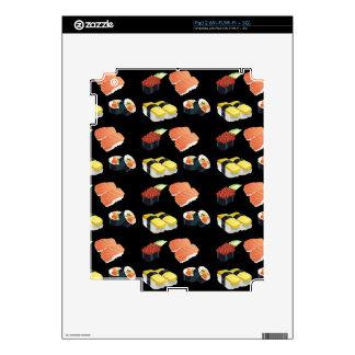 Sushi pattern skins for iPad 2