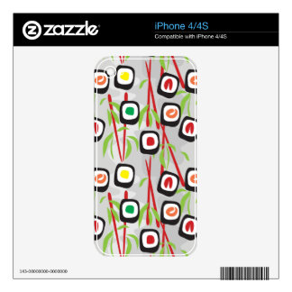 Sushi Pattern Skins For iPhone 4S
