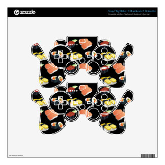 Sushi pattern skins for PS3 controllers