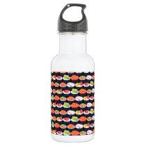 Sushi pattern stainless steel water bottle