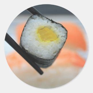 ¡Sushi! Pegatina Redonda