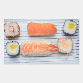 ¡Sushi! Pegatina Rectangular