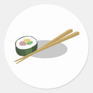 Sushi Pegatina Redonda