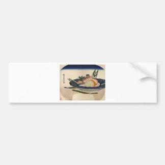 sushi plate art car bumper sticker