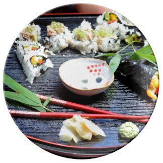 Sushi Plato De Cerámica