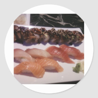 Sushi Platter Classic Round Sticker