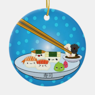 Sushi Platter DBL Sided Ornament