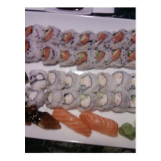 Sushi Platter Postcard