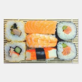 Sushi Platter Rectangular Stickers