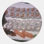 Sushi Platter Round Sticker