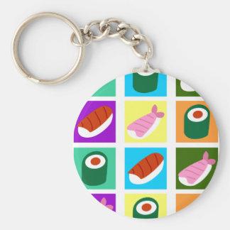 Sushi Pop Art Keychain
