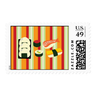 Sushi Postage Stamps