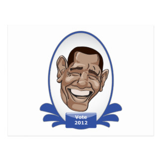 Sushi presidencial de Obama del voto Tarjeta Postal