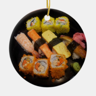 Sushi Raw Food Japanese Meal Delicious Serving Ceramic Ornament