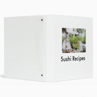 Sushi Recipes 3 Ring Binders