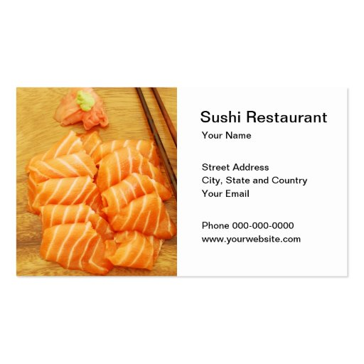 Sushi Restaurant Business Card