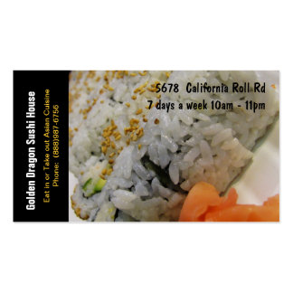 Sushi Restaurant California Rolls Business Cards