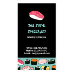 Sushi Restaurant / Chef (Blue) Business Card