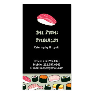 Sushi Restaurant / Chef Business Card