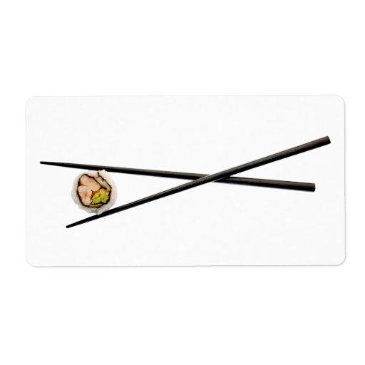 Sushi Roll & Chopsticks - Customized Template Custom Shipping Labels