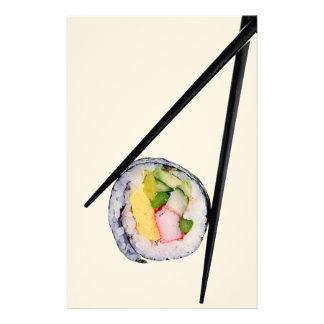 Sushi Roll & Chopsticks - Customized Template Stationery